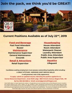 Great Wolf Lodge (Multiple Positions)