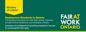 Employment Standards Act Training - Afternoon Session